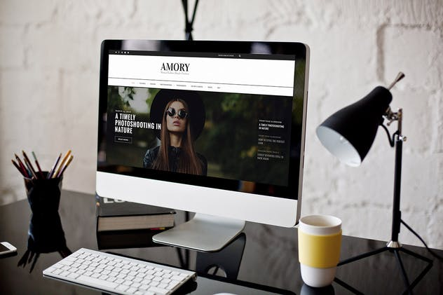 Amory Blog - A Responsive WordPress Blog Theme - product preview 2
