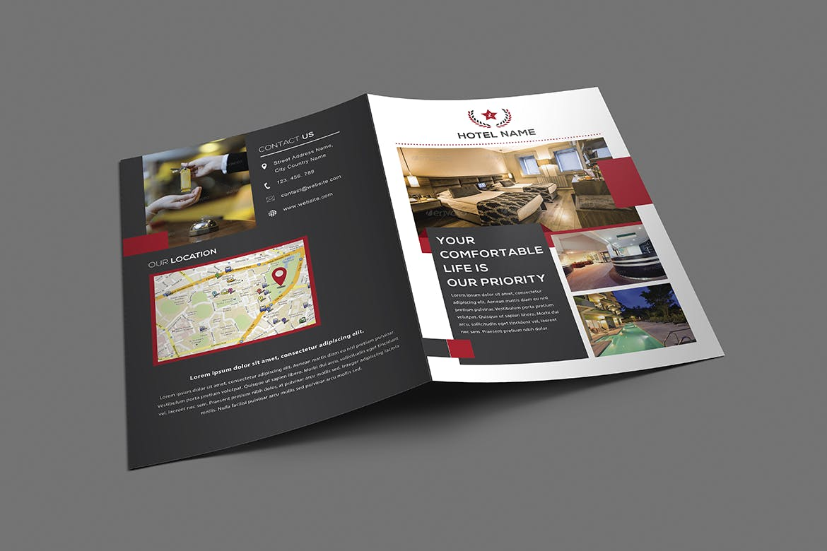 Hotel Brochure by LeafLove on Envato Elements