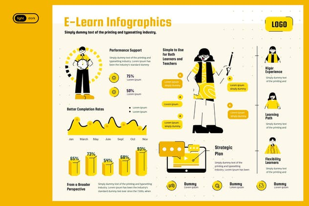 Infographic Chart Elements for Education - product preview 1
