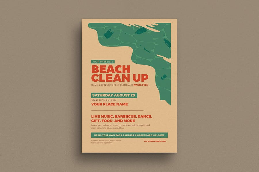 Beach Clean Up Event Flyer - product preview 1