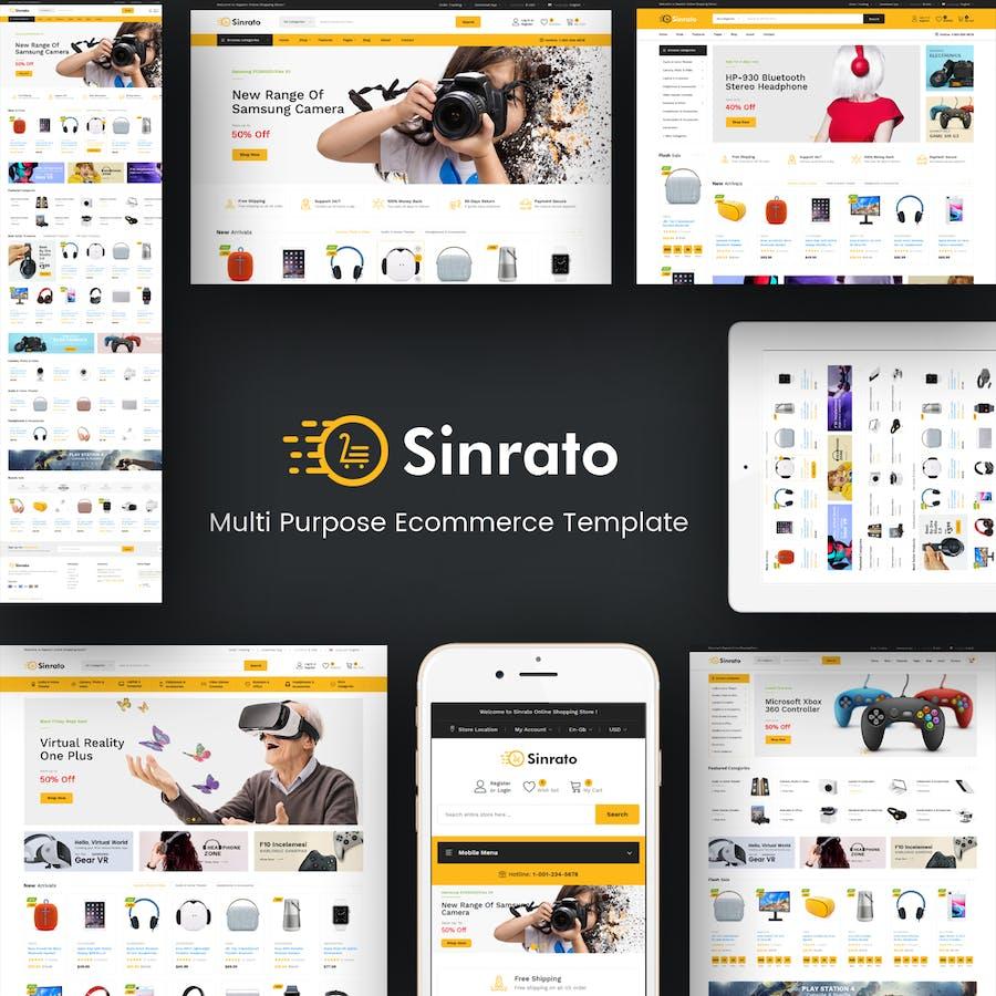 Sinrato - Electronics Prestashop Theme - product preview 1