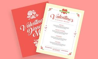 Thumbnail for Valentine's Diner Menu
