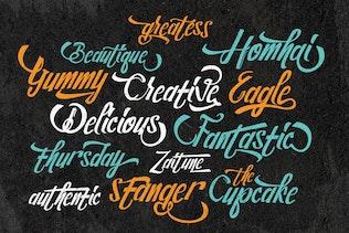 Thumbnail for Steelmond Lettering Logotype Font