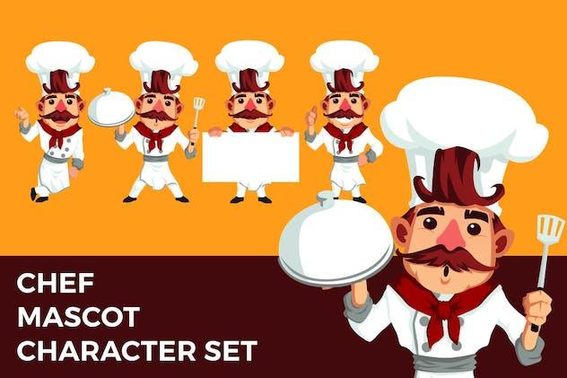 Chef Mascot Character Set