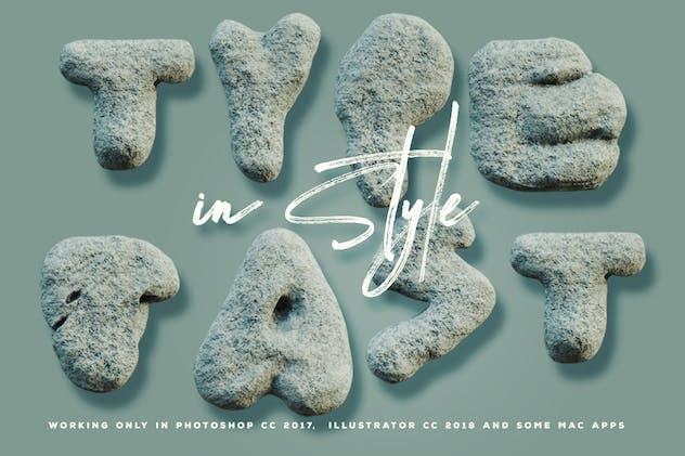 Rough Stone - 3D Color SVG Font - product preview 1