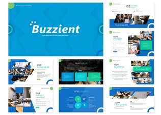 Миниатюра для Buzzient | Шаблон Powerpoint