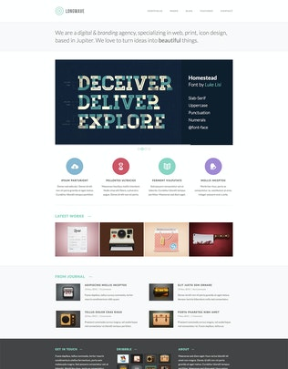 Thumbnail for Longwave - Responsive HTML Template