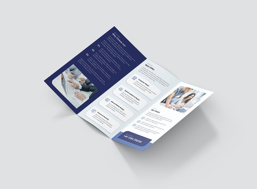 Brochure – IT Services Tri-Fold - product preview 2