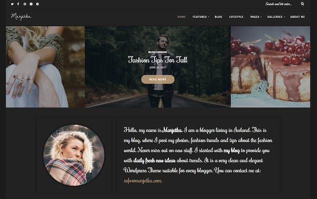 Marjetka - A Feminine WordPress Blog Theme - product preview 1