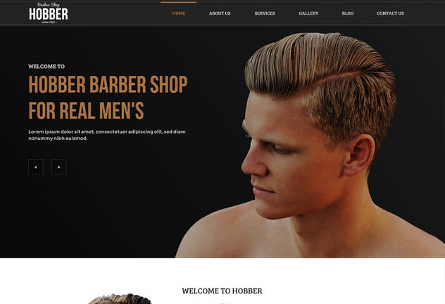 Hobber - Barbershop, Hair & Salon Muse Template YR - product preview 2