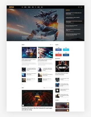 Thumbnail for Redpulse Magazine - Multipurpose New & Blog Psd
