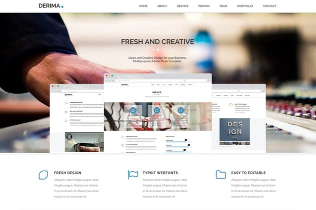 Derima - Multi-Purpose Muse Template - product preview 3