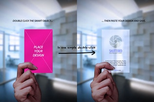 Thumbnail for Transparent Frosted Business Card Mockup