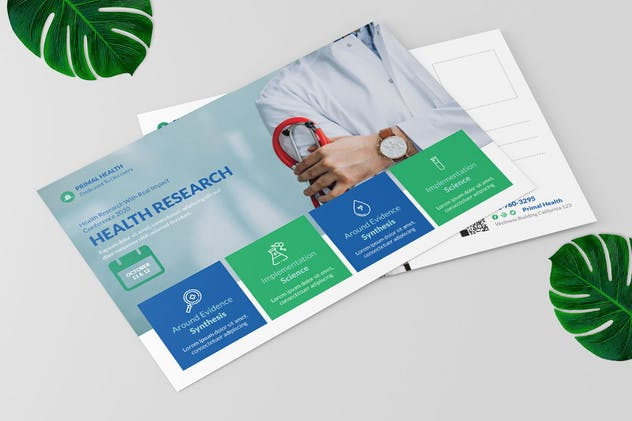 Health Research Postcard Design - product preview 3