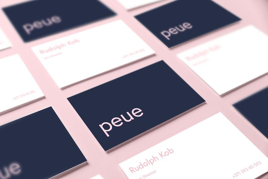 Preview image 14 for Peue - Реалистичный макап для визитных карточек