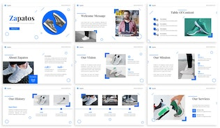 Thumbnail for Zapatos - Commerce Google Slides Template
