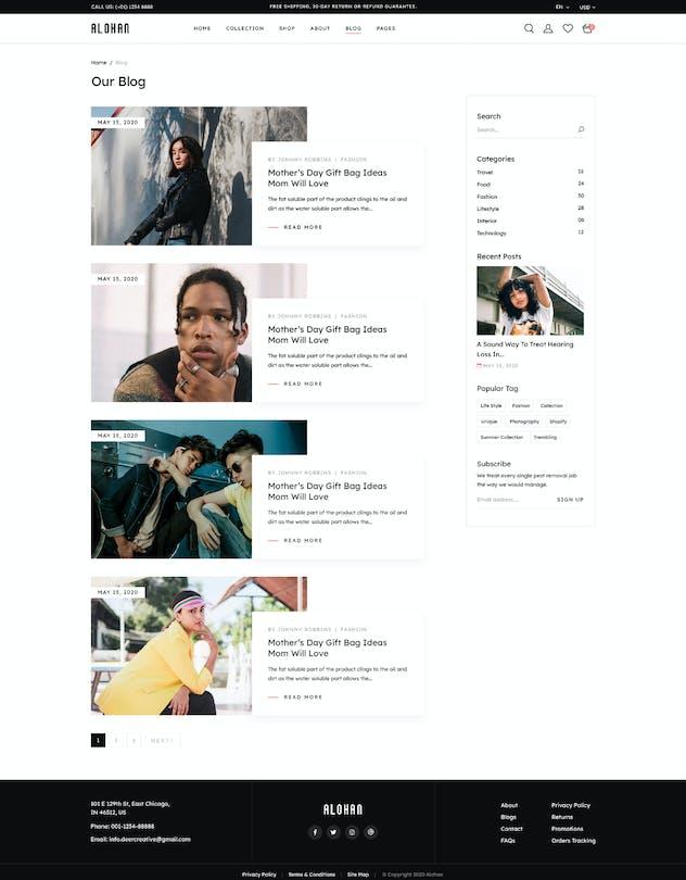 Alohan | Minimalist Fashion PSD Template - product preview 2