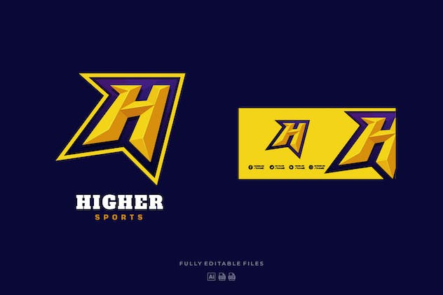 Letter H Sports and E-sports Logo