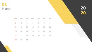 Thumbnail for Calendar 2020 Powerpoint Template