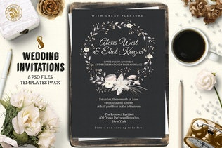Thumbnail for 8 Wedding Invitations Pack 1