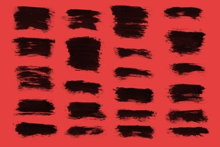 Thumbnail for 36 Short Ink Strokes Photoshop Stamp Brushes