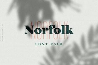 Thumbnail for Norfolk Font Pair