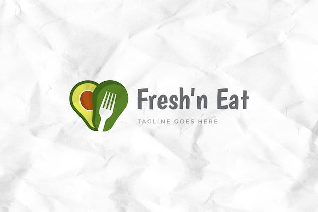 Fresh Avocado Logo Template - product preview 1