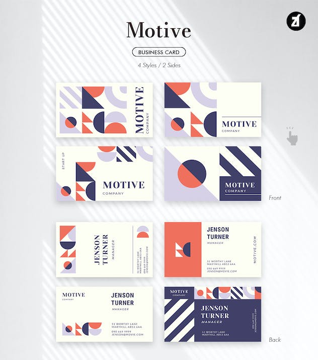 Motive - Business card template - product preview 1