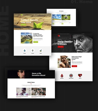 Thumbnail for THX - Charity & Ecology HTML Template