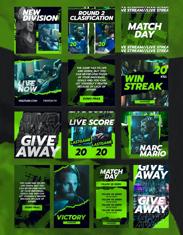 eSport & Gaming Instagram Template V.07 - product preview 2