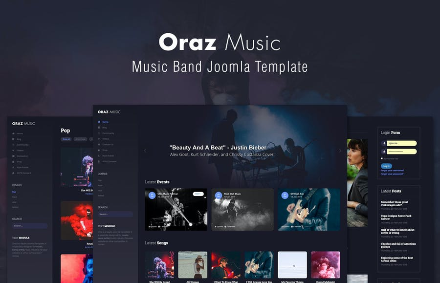 Oraz - Music Band Joomla Template - product preview 1