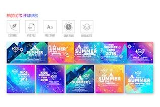 Thumbnail for Kids Summer Camp-Social Media Pack