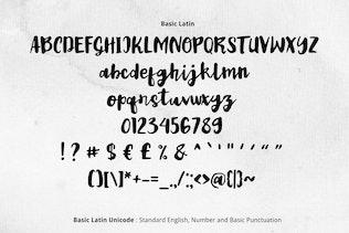 Thumbnail for Vintage Ink Font