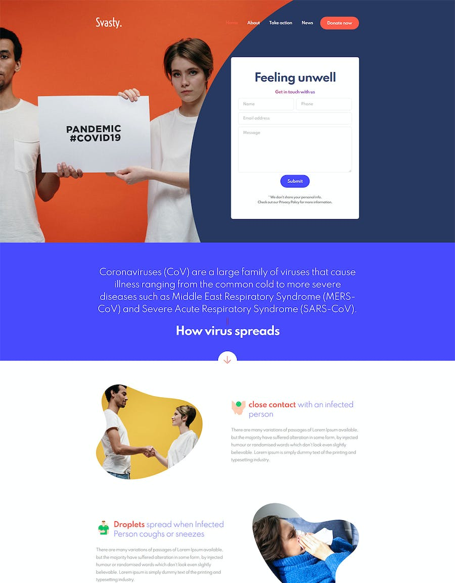 Svasty Healthcare Service Landing Page Template - product preview 0