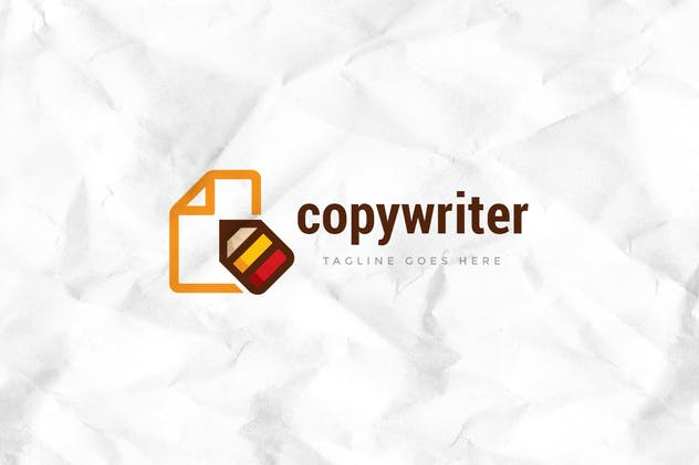 Copywriter Logo Template - product preview 1