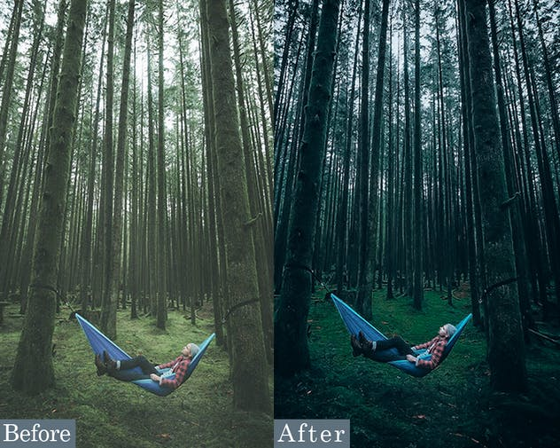 Vibrant Forest Effects Photoshop Actions - product preview 2