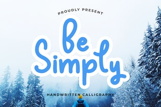 Thumbnail for Be Simply Monoline Calligraphy Font