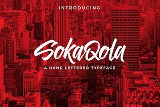 Thumbnail for SokaQola Font