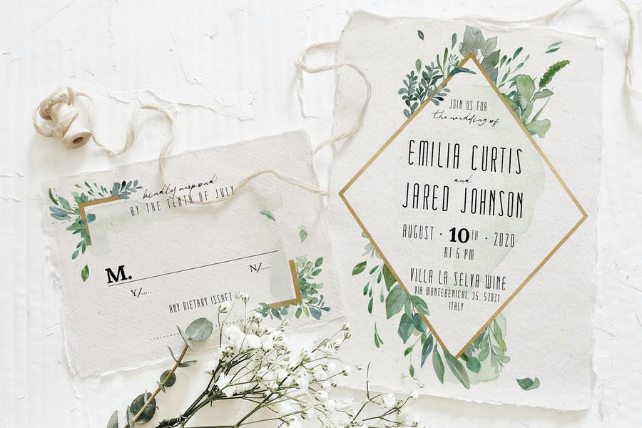 Gold & Greenery Wedding Suite - product preview 3