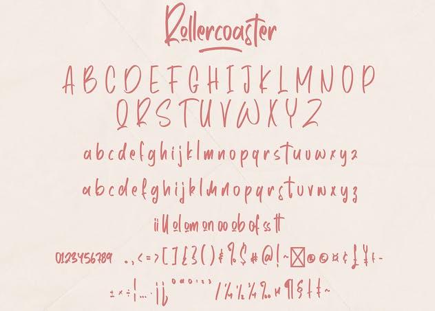 Rollercoaster - Marker Font