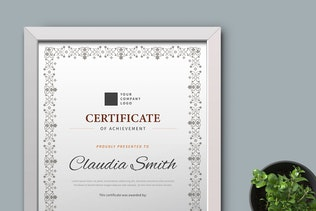 Thumbnail for Certificate / Diploma Template Pro