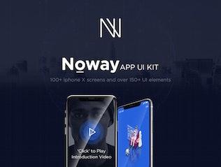 Thumbnail for Noway Mobile App UI Kit