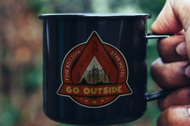 Outdoor Adventure Badge / Vintage Camp Logo Patch - product preview 2