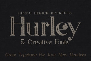 Thumbnail for Hurley - Vintage Style Font
