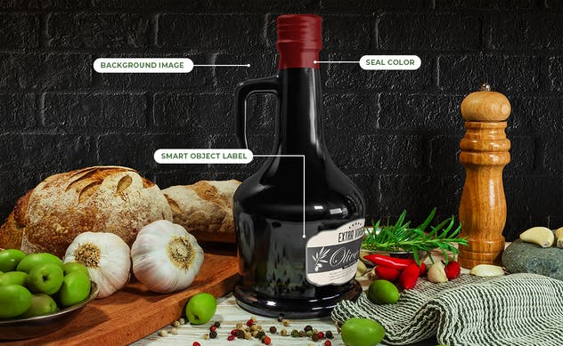 Olive Oil Package Mockup Vol 1