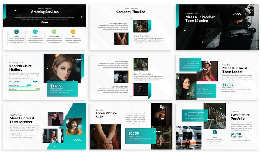 Henz - Agency Keynote Template - product preview 2