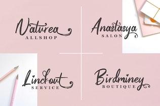 Thumbnail for Pinkalova - Handwritting Script Font