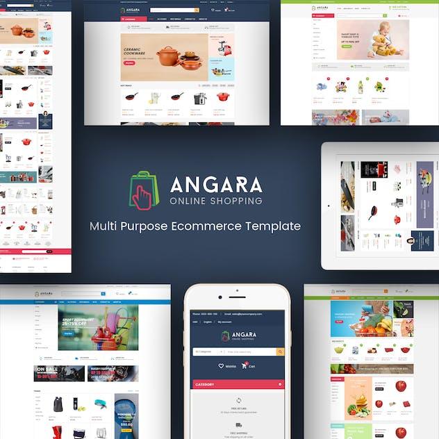 Angara - Responsive Magento Theme - product preview 1
