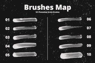 Thumbnail for 101 Photoshop Paint Stroke Brushes