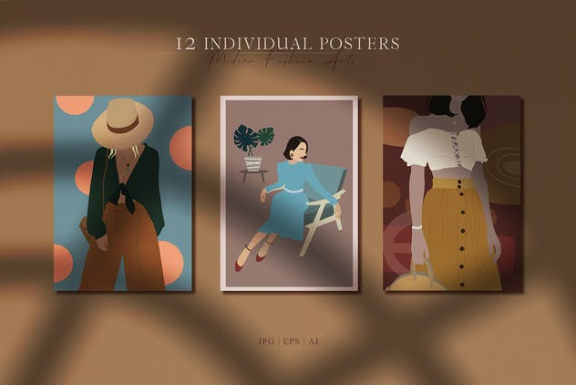 Abstract Woman Portrait Posters - product preview 5